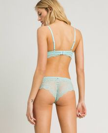 Lace Brazilian briefs Light Mousse Blue Woman 191LL6B77-03