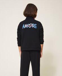 Sweatshirt with multicolour bands Black Child 202GJ2710-04