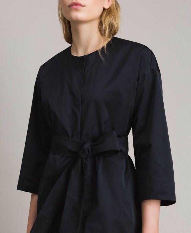 Manteau cache-poussière en taffetas Noir Femme 191TP2655-04