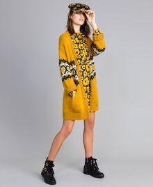 Maxi cardigan avec cœurs jacquard Golden Yellow Femme YA8311-0T