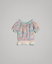 Viscose blouse with paisley print Paisley Print Child 191GB2511-01