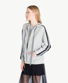 Gingham sweatshirt Melange Grey Woman JS82H3-02