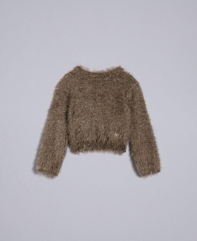 Fur stitch jumper Olive Child FA83D1-01