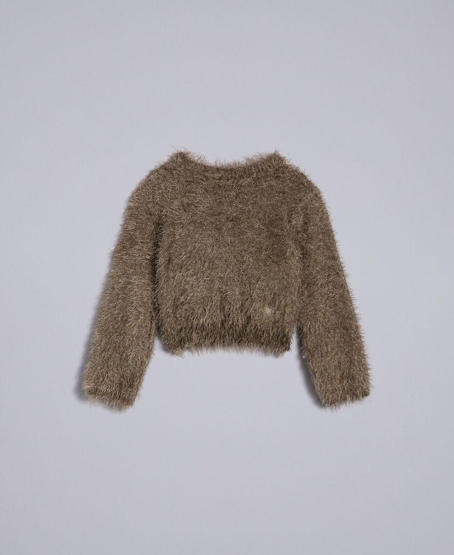 Pullover mit Schlingenstich Olive Kind FA83D1-01
