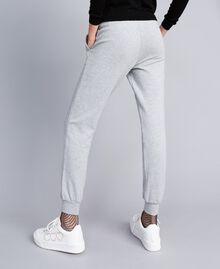 Fleece jogging trousers Melange Grey Woman PA82CE-03