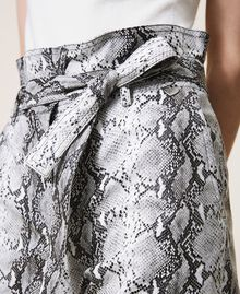 Animal print faux leather trousers Walnut / Tobacco Snakeskin Print Woman 202TT2225-05