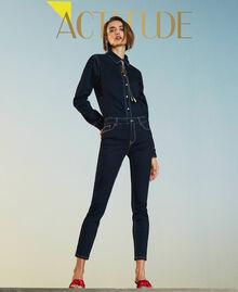 """'Vega"""" skinny jeans Dark Denim Woman 211MT2383-01"""