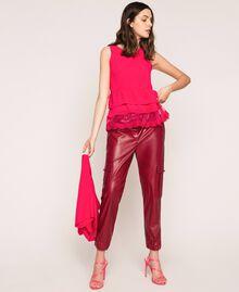 Maglia-cardigan in misto lino con top Rosa Selvatica Donna 201MT3022-04