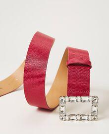 Gürtel aus geprägtem Leder mit Schmuckschnalle Amarena Frau 202TA434F-03