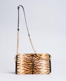 Sac à bandoulière en cuir effet poulain et cuir Imprimé Tigre Femme OA8TDN-02