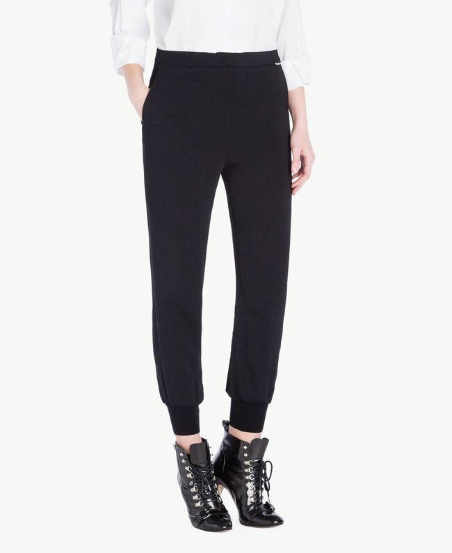 Georgette trousers Black Woman PS8258-01