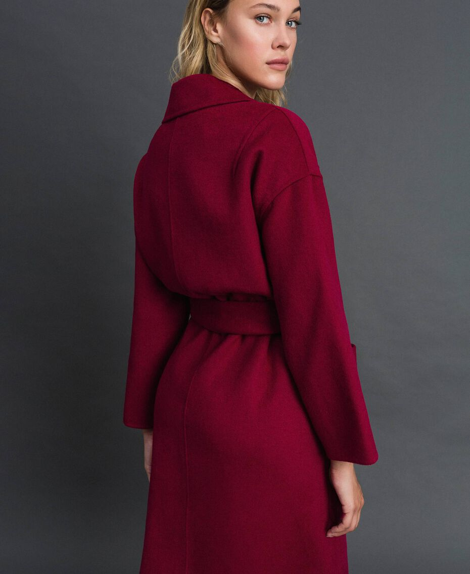 Double wool blend coat Beet Red Woman 192TP2312-03