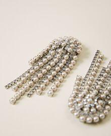 Ohrringe mit Strass und Perlen Kristall Frau 202TA4312-02