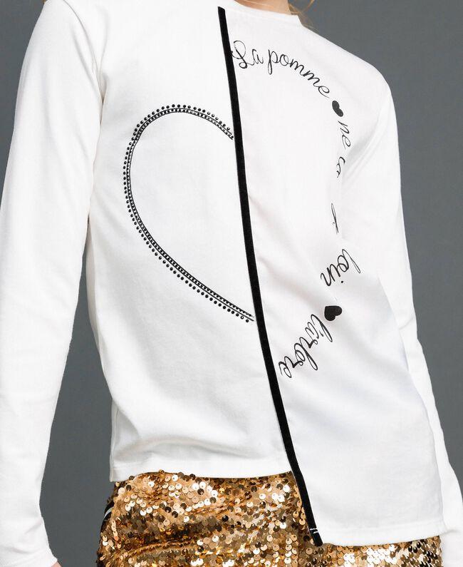 T-shirt asymétrique avec imprimé Blanc Enfant 192GJ2641-04