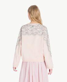Sweatshirt aus Spitze Quarzrosa Frau JS82H1-03