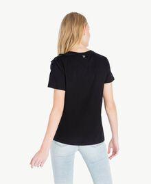 T-shirt ruches Noir Femme JS82RS-03