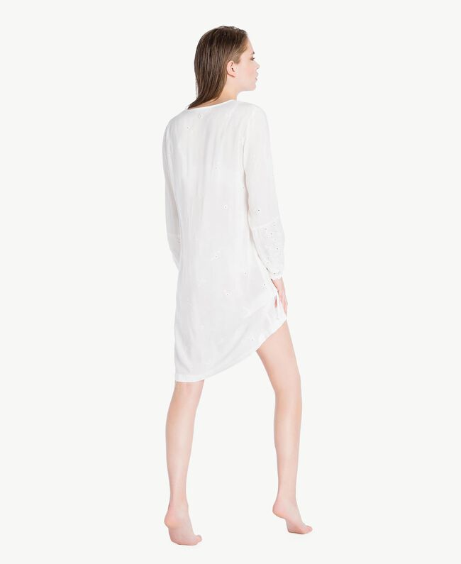 Broderie anglaise nightdress Ivory Woman LS8GBB-04