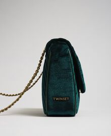 Quilted velvet shoulder bag Dark Green Woman 192TA7090-02