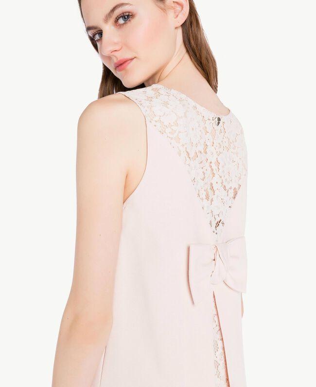 Lace dress Pale Ecru Woman PS828T-04