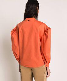 Blouse en popeline brodée Orange Parrot Femme 201TT2130-03