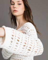 Pullover mit Durchbruch-Streifenmuster