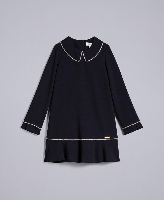 Robe en crêpe avec strass Noir Enfant GA82DD-01