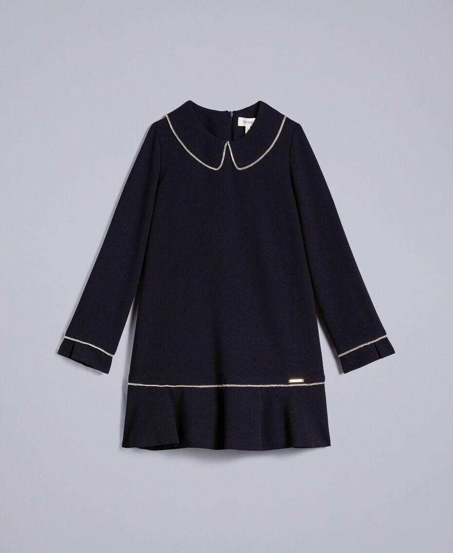 Платье из крепа со стразами Черный Pебенок GA82DD-01