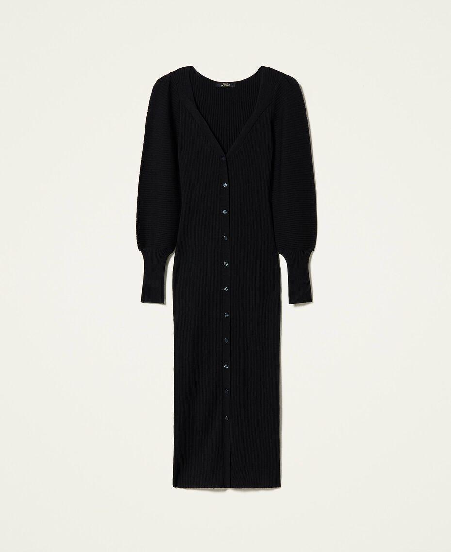 Robe «Garnet» avec manches ballon Noir Femme 212AP3032-0S