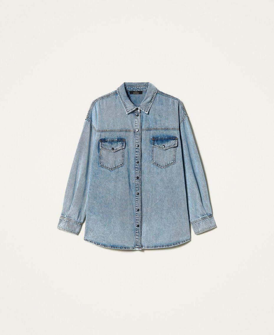 """Camicia in jeans Blu """"Denim Medio"""" Donna 212AP2391-0S"""