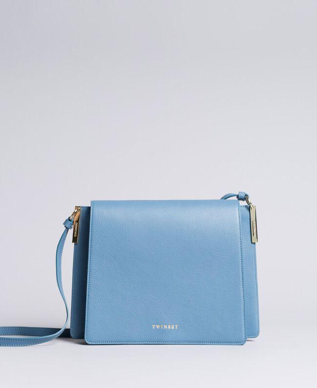 Große Umhängetasche aus Leder Unendlichkeits-Azur Frau AA8PGC-01