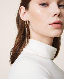 Boucles d'oreilles pendantes avec anneaux et strass Cristal Femme 202TO5052-0S