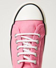 "Sneakers aus Canvas mit Logo ""Rose Bloom""-Rosa Kind 211GCJ070-05"