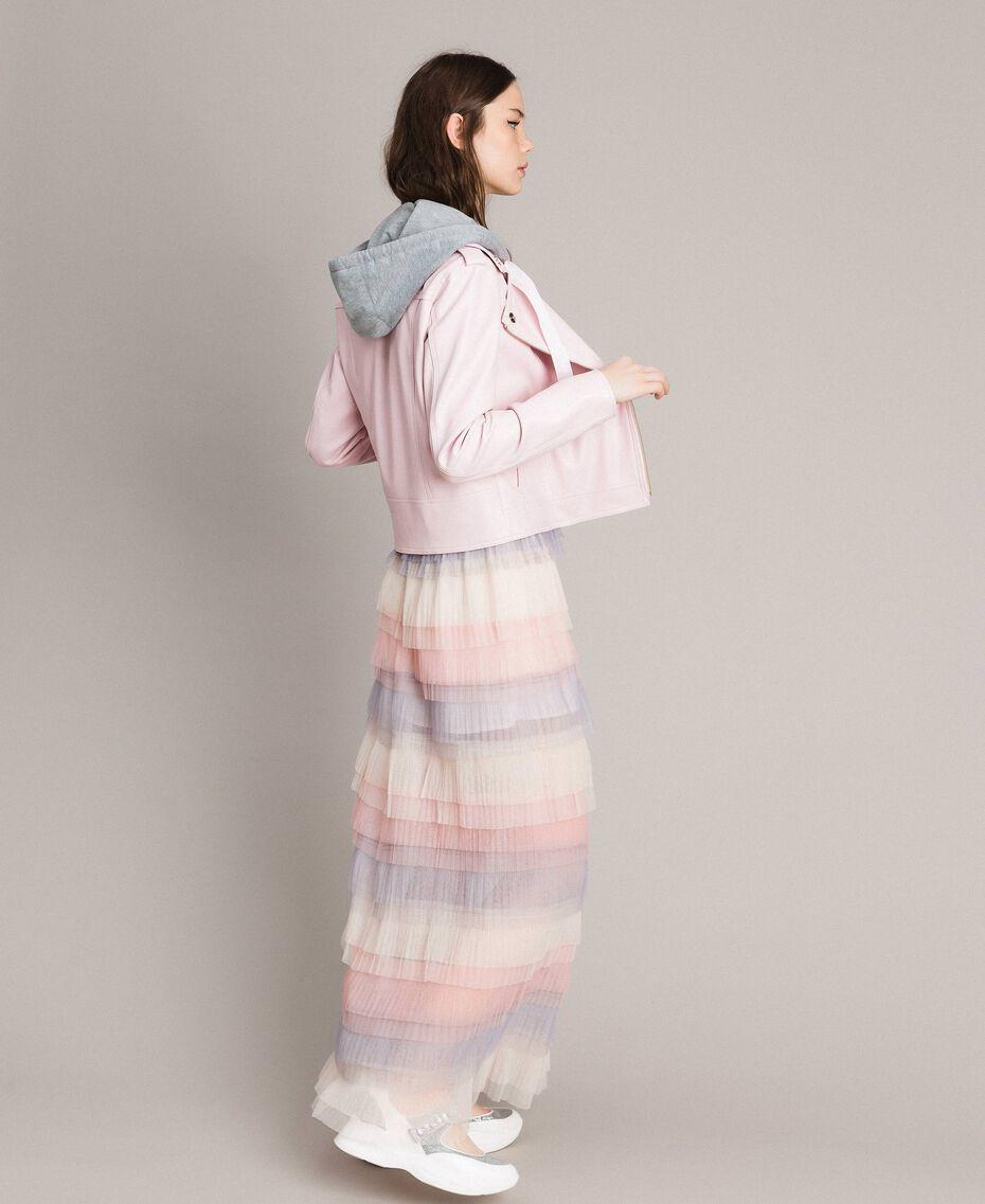 Long jupe plissée à volants Multicolore Tulle Femme 191MP2232-03