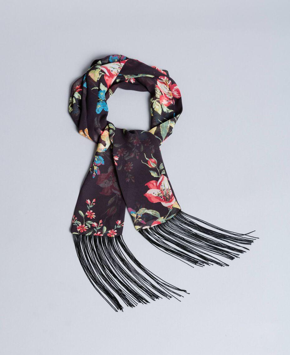 Foulard en viscose avec imprimé floral Imprimé Roses et Lis Femme AA8P16-02