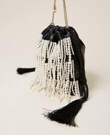 Sac modèle sacchetto avec franges de perles Noir Femme 212TB7300-02