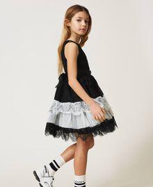 Robe en dentelle et tulle bicolore Bicolore Noir / Blanc Cassé Enfant 211GJ2Q8D-04