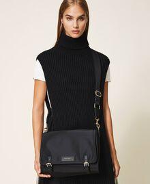 Satin Twinset Bag shoulder bag Black Woman 202TB7203-0S
