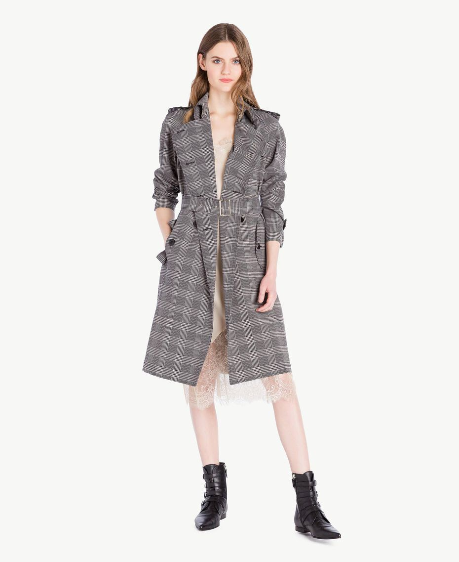 Trench carreaux Jacquard Vichy Femme PS827N-01