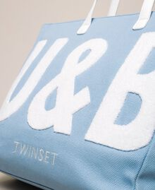 "Logo beach bag ""Waterfall"" Blue Woman 201LB79BB-04"