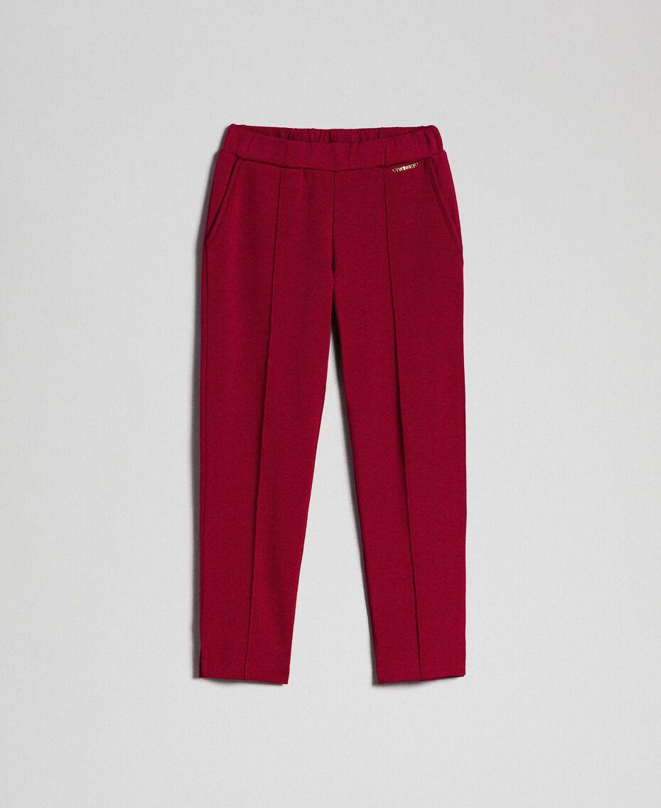 Slim-Fit-Hose mit elastischem Taillenbund Ruby Wine Rot Kind 192GJ2250-0S