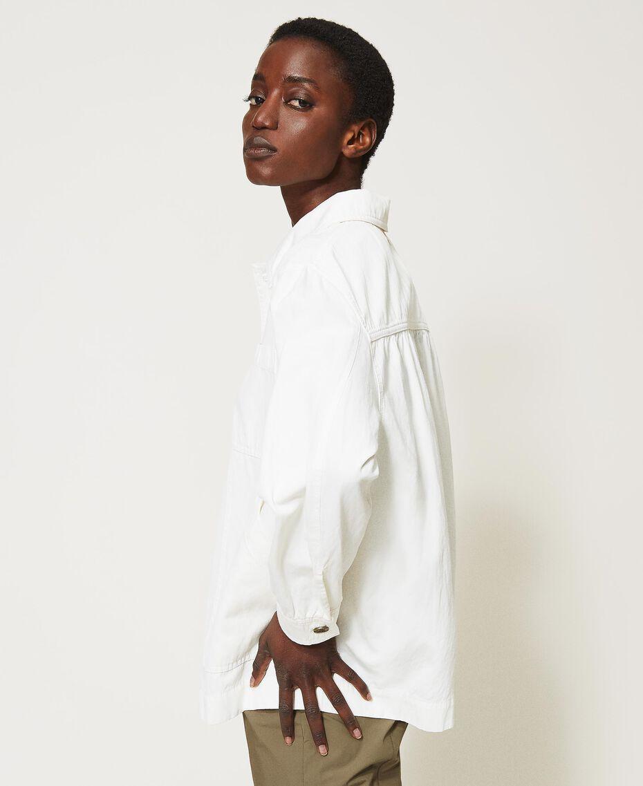 Blouson avec grandes poches Crème fouettée Femme 211TT2077-03