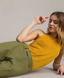 "Poplin trousers ""Olive"" Green Woman 191TT2232-04"