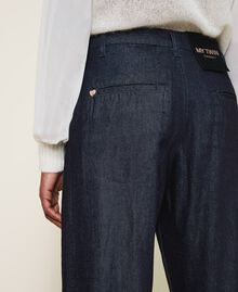 Wide leg jeans Dark Denim Woman 202MP2072-05