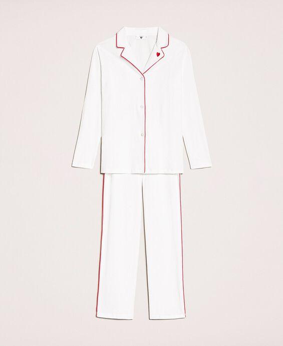 Пижама с контрастными деталями