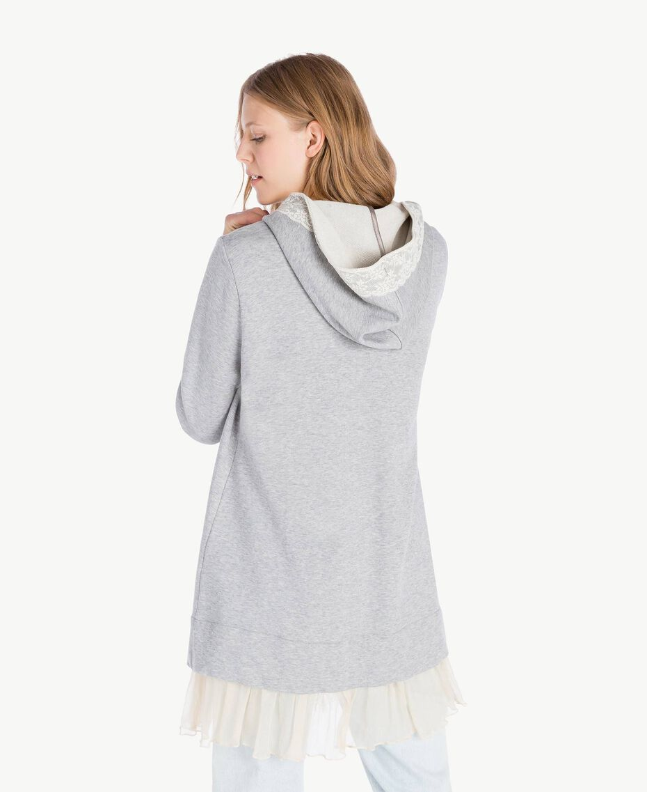 Maxi sweat-shirt Gris clair chiné Femme PS82UP-03