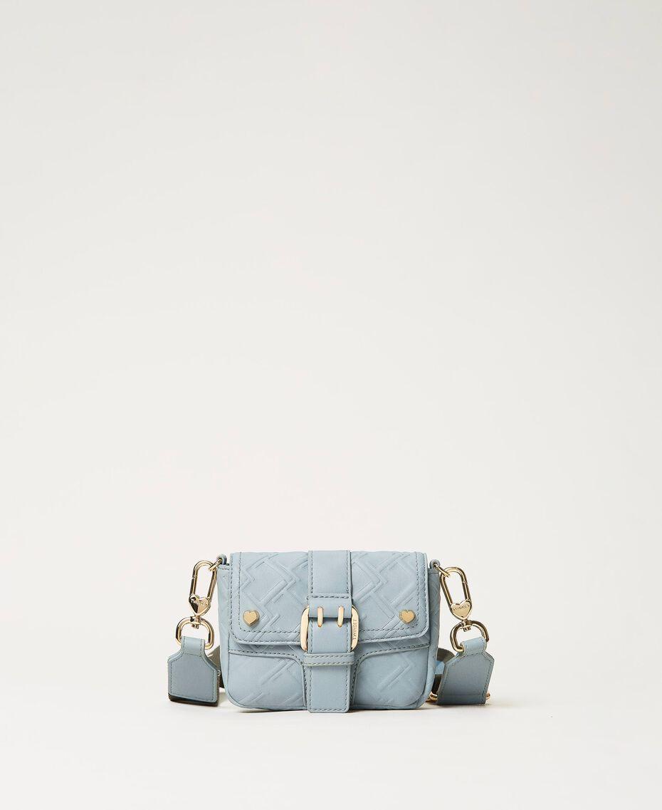 Small Rebel shoulder bag with logo Blue ash Woman 202TB7162-03
