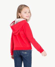Sweat-shirt logo Bicolore Rouge Grenadier / Fleurs Chantilly Enfant GS82SN-04