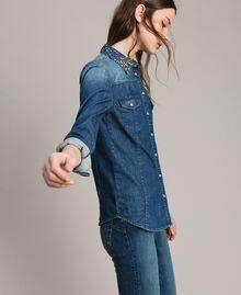 Camicia in denim con ricamo Denim Blue Donna 191MP2411-02