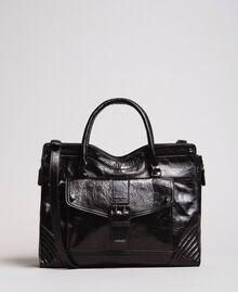 Rebel leather shopping bag Black Woman 191TA7235-01
