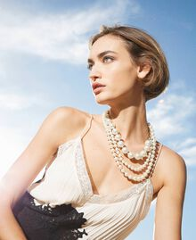 Choker with pearls Parchment White Woman 202TO5049-0S